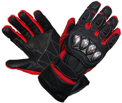BL-5108 Leather Motorbike Gloves